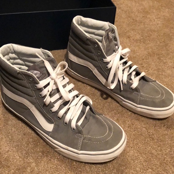 mens grey high top vans